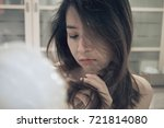 blurry of mad women have... | Shutterstock . vector #721814080