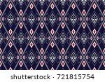 geometric ethnic pattern... | Shutterstock .eps vector #721815754