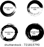 grunge post stamps collection ...   Shutterstock .eps vector #721815790