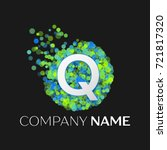 Realistic Letter Q Logo With...