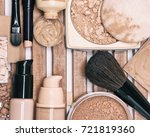 makeup products for flawless... | Shutterstock . vector #721819360