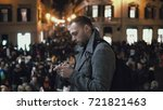 young man in downtown in the... | Shutterstock . vector #721821463