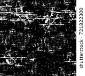 grunge black and white seamless ... | Shutterstock . vector #721822300