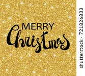 merry christmas vector text... | Shutterstock .eps vector #721826833