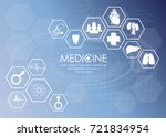 medical health care science... | Shutterstock .eps vector #721834954
