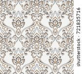 vector floral wallpaper.... | Shutterstock .eps vector #721835716