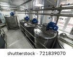 electric motors on steel tanks... | Shutterstock . vector #721839070