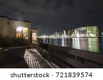 amsterdam oosterdok at night.... | Shutterstock . vector #721839574