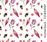 seamless watercolor pattern on... | Shutterstock . vector #721843069