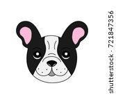 cute light grey french bulldog... | Shutterstock .eps vector #721847356