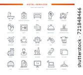 hotel services thin line icons... | Shutterstock .eps vector #721848466