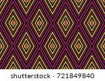 geometric ethnic pattern... | Shutterstock .eps vector #721849840