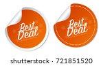 best deal stickers | Shutterstock .eps vector #721851520
