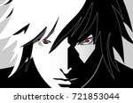 Anime Eyes. Red Eyes On Black...