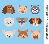 set of cute dogs. dog symbol... | Shutterstock .eps vector #721853869