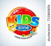 kids zone vector banner in... | Shutterstock .eps vector #721860856