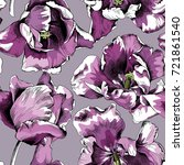 seamless pattern of a violet... | Shutterstock .eps vector #721861540