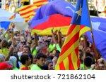 barcelona 11.09.2017  national... | Shutterstock . vector #721862104
