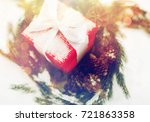 christmas  winter holidays and... | Shutterstock . vector #721863358