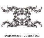 chrome ornament on a white... | Shutterstock . vector #721864153