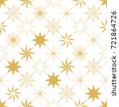 golden christmas star seamless... | Shutterstock .eps vector #721864726