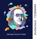 benjamin franklin. dream...   Shutterstock .eps vector #721866064