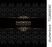 vintage baroque gold invitation ...   Shutterstock .eps vector #721868260