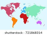 color world map | Shutterstock .eps vector #721868314