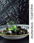 steamed mussels | Shutterstock . vector #721871944