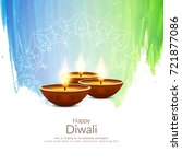 abstract happy diwali colorful... | Shutterstock .eps vector #721877086