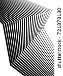 white black color. linear... | Shutterstock .eps vector #721878130