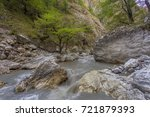 mountain river with a rapid... | Shutterstock . vector #721879393
