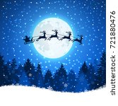 christmas background with santa ... | Shutterstock .eps vector #721880476