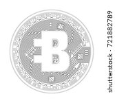 crypto currency black coin with ... | Shutterstock .eps vector #721882789