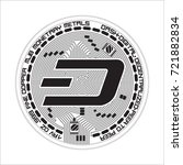 crypto currency black coin with ... | Shutterstock .eps vector #721882834