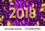 new year 2018 vector... | Shutterstock .eps vector #721882900