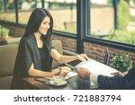 successful business people... | Shutterstock . vector #721883794
