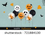 happy halloween. holiday design ... | Shutterstock .eps vector #721884130