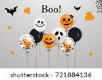 happy halloween.  boo. holiday... | Shutterstock .eps vector #721884136