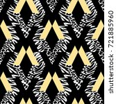 seamless repeating textile  ink ... | Shutterstock .eps vector #721885960