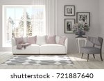 idea of white minimalist room...   Shutterstock . vector #721887640