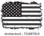 grunge american flag.vector... | Shutterstock .eps vector #721887814