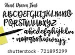 lettering and custom typography ... | Shutterstock .eps vector #721895299
