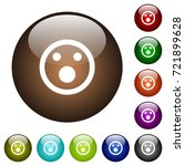 shocked emoticon white icons on ... | Shutterstock .eps vector #721899628