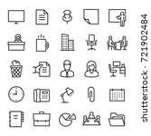 office  icon set. collection of ... | Shutterstock .eps vector #721902484