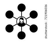 social network icon vector... | Shutterstock .eps vector #721906036