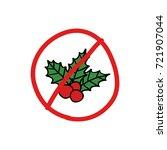 mistletoe doodle icon