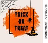 halloween trick or treat sign...   Shutterstock .eps vector #721909048