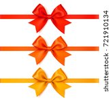 set of decorative autumn bow... | Shutterstock .eps vector #721910134
