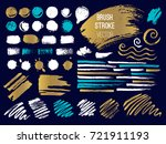 set stroke spot. brush  pen ... | Shutterstock .eps vector #721911193